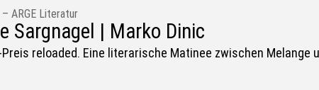 Krilit16 | Stefanie Sargnagel und Marko Dinić:...
