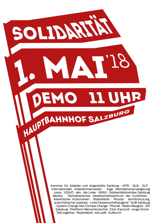 Das war die 1. Mai Demo 2018