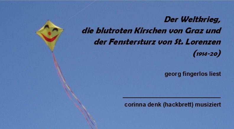 Lesung & Musik & Drinks Georg Fingerlos,...